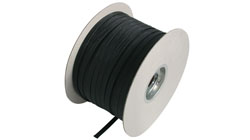 Braided Sleeve Black Self Extinguishing & Halogen Free Polyester Monofilament Non Wrap Around Braid Sleeving