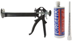 Polyester Anchor Resin with applicator gun.