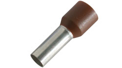 Cord End Terminals for Tri Rated Cable. Bootlace Ferrule Connector in Single and Double Entry in French or German Colour