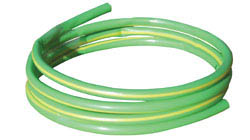 PVC Earth Sleeving Cable Protection to Sleeve Bare Earth Conductor. Reel of Green Yellow Stripe Part of Phase Colour Marking & Identification