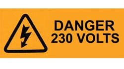 Self Adhesive Electrical Warning & Danger Labels- PAT Testing Passed/ Failed Safety Sign for Electric Installations
