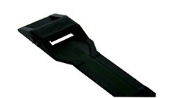 In Line Lashing Cable Tie in Black Nylon with Low Profile Head