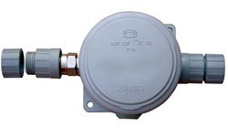 4 Way Waterproof Junction Box for outdoor & indoor use. M20 IP68 Water Resistant Armoured Cable Glands & Blanking Plug