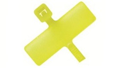 Marker Cable Tie Head with Marking Plate in Fluorescent Yellow Nylon for Identification