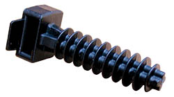 Masonry Mount Knock in Type For Cable Ties in Black Nylon