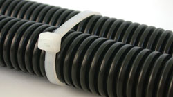 Nylon cable ties ROHS, UL approved & low smoke. Black and natural plastic polyamide 6.6. high quality, easy to thread head