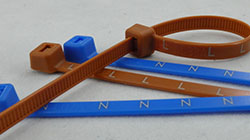 Blue & Brown Phase Marking Ties For Utilities/ Utility Companies For Metering Installations. L, L1, L2, L3, N. Printed To Head For Electric Cable ID
