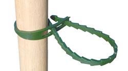 Soft Christmas Tree Tie Double Looped in Flexible Green Polyethylene